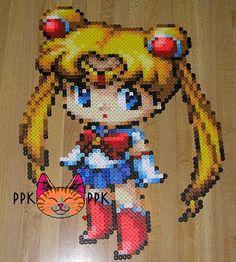 Sailor Moon pixellated hama bead art