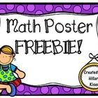 Math Poster FREEBIE!