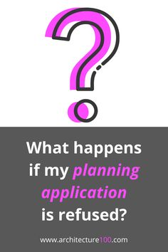 You may have produced a great design that ticks at the planning boxes, but still find that your proposed development comes up short 😕If your planning application is refused, you have four options. Check them out 👉 Click here!  #planningapplication #help