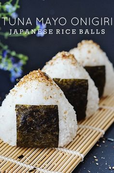 Easy and delicious tuna mayo onigiri (Japanese rice balls). Topped with Japanese seasoning and perfect for snacks or quick lunch! i would use chicken