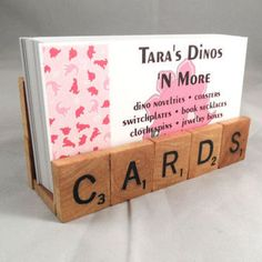 Cute idea for biz card holder... can also spell TRAVEL or something fun