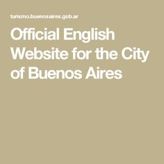 Official English Website for the City of Buenos Aires