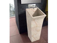 Lungo Square Bathco umywalka kamienna 380x450x900 - 00358  http://www.hansloren.pl/Umywalki-kamienne/598