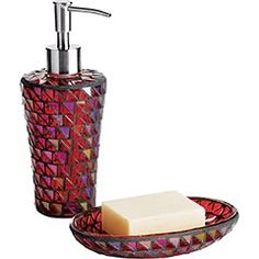 i cannot find this set anywhereit was originally at horchow now red bathroom accessoriesred bathroomsbreak