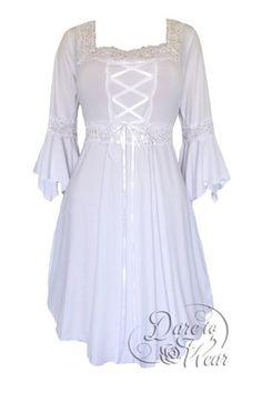 Dare To Wear Victorian Gothic Women's Plus Size Renaissance Corset Dress Icing