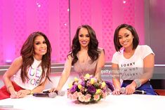 Keshia Chante, Melyssa Ford, and Tahiry Jose visits 106 & Park at BET studio on April 2014 in New York City. Get premium, high resolution news photos at Getty Images Faux Locs Colored, Melyssa Ford, Black History Month, Box Braids, Natural Hair Styles, Formal Dresses, Beauty, Crown, Park