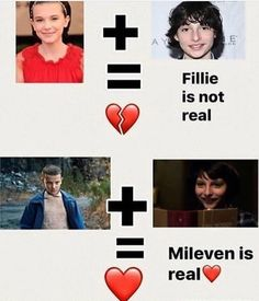 It's okay to ship Mileven, but please don't ship Fillie! They don't feel comfortable with people shipping them!
