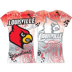 Ladies SS Sublimation Tee - JD Becker Stores, University of Louisville I have this t-shirt; it's a little thin so you have to wear an undershirt but so cute!