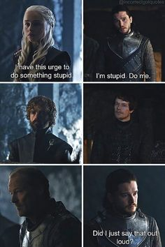 20 Hilariously Misquoted Moments from 'Game of Thrones' - BlazePress Got Memes, Funny Memes, Hilarious, Funny Subtitles, Game Of Thrones Instagram, Game Of Thrones Meme, Im Stupid, How To Get Followers, Stress