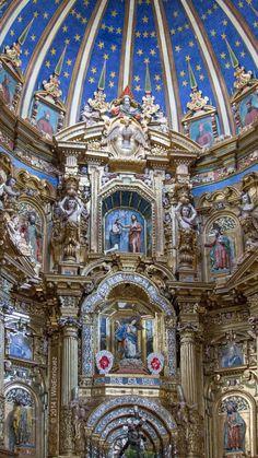 Retablo en Pan de Oro, de la Iglesia de San Francisco - Quito, Ecuador / por Wilo Enríquez en 500px