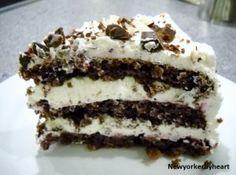 Rugbrødslagkage/rye bread cake - traditional cake from the southern part of Denmark.