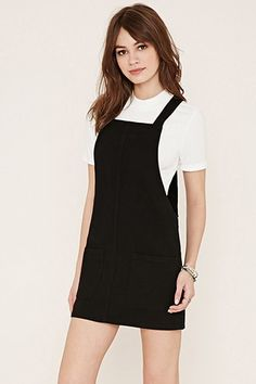 Two-Pocket Denim Overall Dress