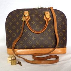Louis Vuitton Alma Satchel in Brown