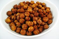 So these delicious looking little bunches of crunchy goodness are roasted chickpeas (aka garbanzo beans). While they take a while to roast in the oven, they take very little time otherwise, to make or to eat. You can season them however you like. I used garlic powder, salt, pepper, and a ton of paprika. To make these sweet instead of savory, you could use cinnamon and a little bit of sugar, which sounds fantastic. Though I've only made these once, I will definitely make them again.