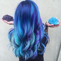"723 Likes, 36 Comments - Stephanie Aretakis (@freecuppycake) on Instagram: ""When your hair matches your crystals @witchywashybath @mckenna__mckenna @stylist.life.mo…"""