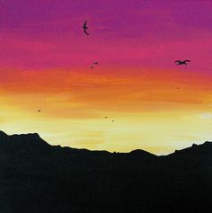 Soaring Sunset Painting (could make this with gelotos) :)