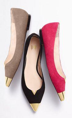 Cap toe flats. I'm in love!