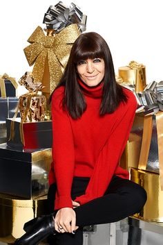 Claudia Winkleman talks Christmas plans and festive beauty Deep Red Nails, Bright Red Nails, Shiny Hair, Dark Hair, Claudia Winkleman Hair, Hair Inspo, Hair Inspiration, Aveda Shampoo, Hair