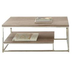 LYKE Home Coffee Table with Magazine Rack
