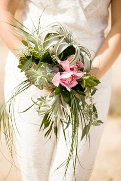Succulents and air plants: http://www.stylemepretty.com/little-black-book-blog/2015/06/01/intimate-chic-joshua-tree-national-park-wedding/   Photography: Betsi Ewing - http://betsiewing.com/
