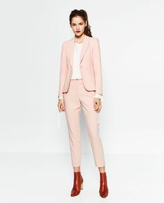 ZARA - WOMAN - RELAXED FIT CREPE TROUSERS