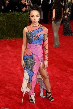 9e345d53517 FKA twigs wears erotic dress featuring genitalia to the Met Gala