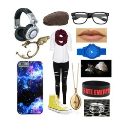 """""""Nerds Forever"""" by elementaldragon ❤ liked on Polyvore featuring Miss Selfridge, Steffen Schraut, Athleta, Blue Nile, Brixton, Converse, Panasonic, INC International Concepts, Vince Camuto and Bling Jewelry"""