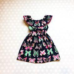 Girls Easter Dresses - Girls Butterfly Dress - Spring Dresses for Girls Girls Spring Dresses, Girls Easter Dresses, Girls Christmas Dresses, Holiday Dresses, Navy Floral Dress, Butterfly Dress, Etsy, Fashion, Xmas Dresses