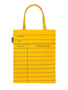 Library Card: Yellow