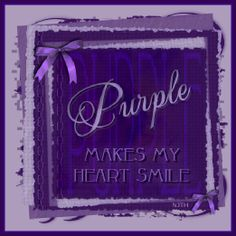 Purple ... makes my heart smile                                                                                                                                                                                 More