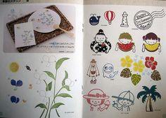 little japanese booklet-stamp designs for carving by feltcafe, via Flickr