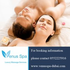 Bring your wife and relax with a couple massage at the same time with a double massage room at Venus Spa in Deira, Dubai.