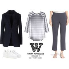 W-Two Worlds Episode 1 Oh Yeon Joo Fashion Inspiration W Two Worlds, Second World, Chic Outfits, Actresses, Style Inspiration, Kdrama, Casual, Polyvore, Stuff To Buy