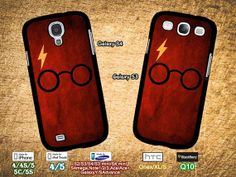 SamSung Galaxy S3 case, S3mini, Galaxy S4 case, S4mini, Note2, Note3 case, Ace, HTC one, Iphone 4,4S,5,5C,5S case, Harry Potter, Glasses on Etsy, $6.99