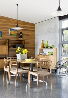 Dining area in the incredible WA home of Fiona MacLennan, Ken Norrish and Family