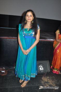 Shivada Nair at Nedunchalai Audio Launch Silk Kurti Designs, Churidar Designs, Kurti Designs Party Wear, Simple Anarkali Suits, Long Gown Design, Best Blouse Designs, Indian Gowns Dresses, Designs For Dresses, Saree Look