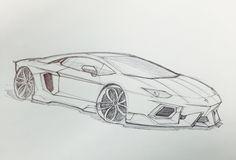 Lamborghini Aventador sketch