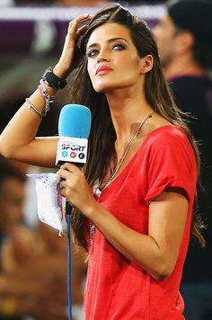 Sara, en el partido España-Francia