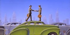 I love Robert LaDuke& paintings even if sometimes I& thinking & on earth does this man mean by this?& That& half the fun. Nostalgia Art, Art Deco Artists, Protest Posters, Art Optical, Around The World In 80 Days, Garage Art, Art Deco Posters, Great Paintings, Art For Art Sake
