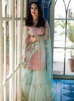 Sharara designs - Trendy Sharara & Gharara Sets that will make you go sharara sharara Party Wear Indian Dresses, Designer Party Wear Dresses, Indian Fashion Dresses, Dress Indian Style, Indian Wedding Outfits, Bridal Outfits, Indian Outfits, Bridal Dresses, Gharara Designs