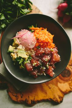 Ahi Tuna Poke Bowl | A Thought For Food via Sprouted Kitchen Bowl + Spoon