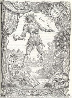 Johfra  Bosschart - Illustration to the chymical wedding of christian rosenkrantz: the image of Nebuchandnezzar (Alchemische bruiloft C.R.C.: Het beeld van Nebucadnezar  1968)