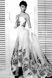 vintage Givenchy gown ... audrey hepburn I think she wore this in a classic film called Sabrina.
