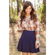 Just A Minute Plaid Blouse - $42.00