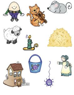 Nursery Rhymes clip art and activities