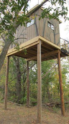 homemade elevated deer blind plans #deerhuntingblindsplans