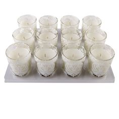 <div>Add a creative touch to your special occasions! These votive candles make wonderful tableto...