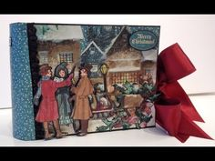 Made a 6 x 4 mini album with the beautiful A Christmas Carol collection from Graphic 45 and I filmed it when I made it so there is a one part start to finish...