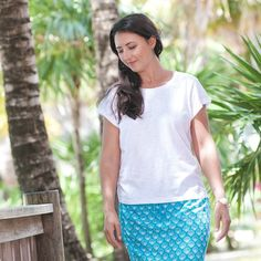Every seashell has a story... These fan shells tell a story of versatility! Why pack 2 skirts for your next Caribbean Cruise or Island Getaway?! Our stunning new Shell Skirt is a modern day reversible and will be in stores this coming December