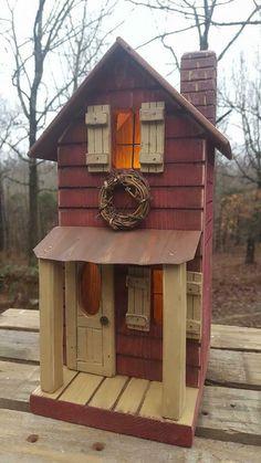 2 x Suspension Maison en bois oiseau Hut Feeding Table Station Wild Sparrow Robin NEUF